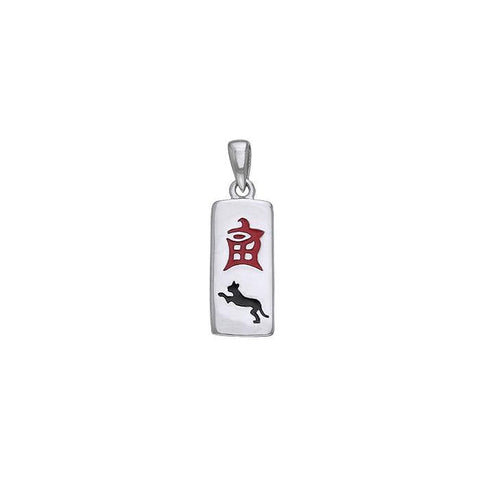 Chinese Astrology Tiger Silver Pendant TPD238