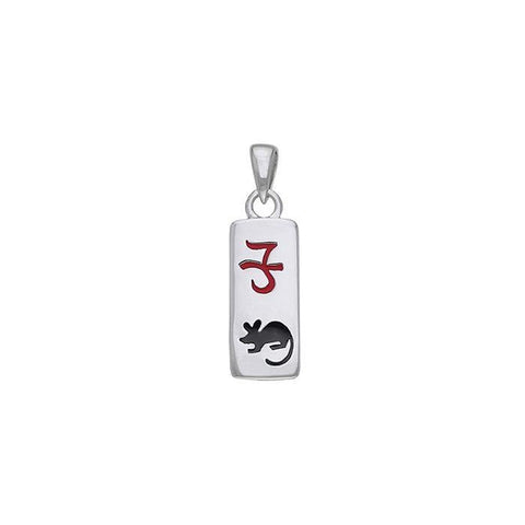 Chinese Astrology Rat Silver Pendant TPD240
