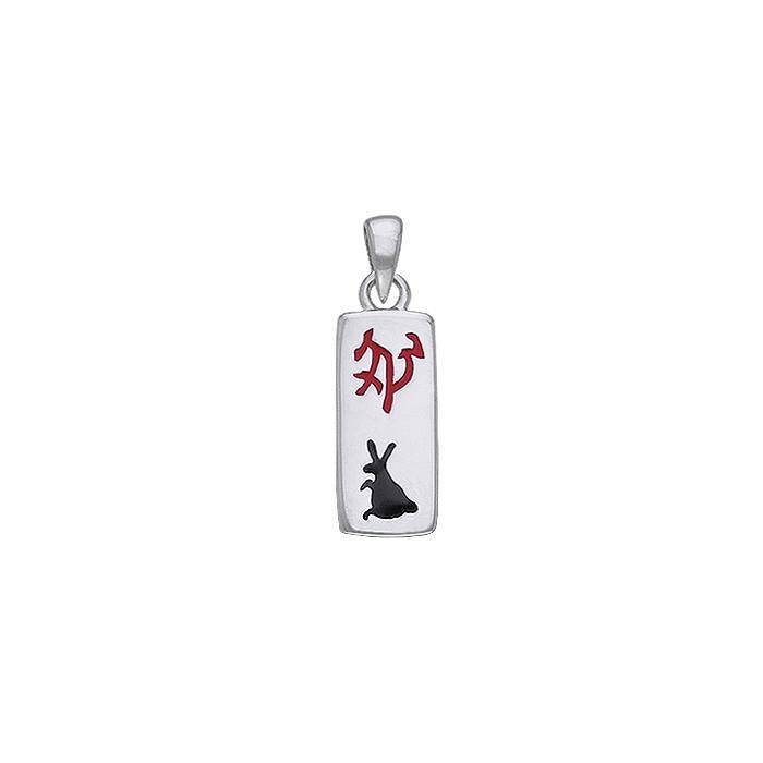 Chinese Astrology Rabbit Silver Pendant TPD241