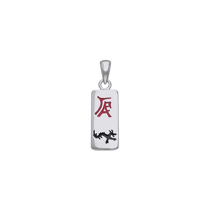 Chinese Astrology Dragon Silver Pendant TPD245