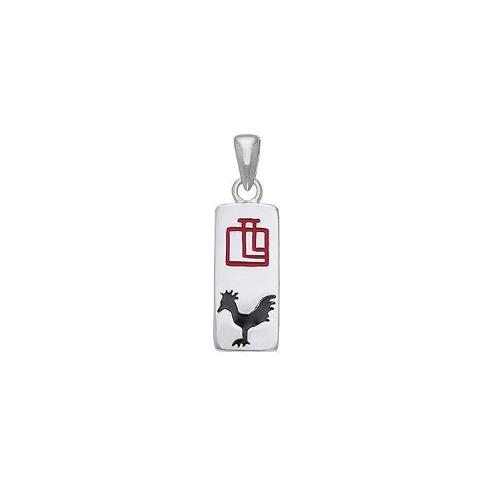 Chinese Astrology Rooster Silver Pendant TPD246