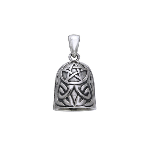 Celtic Knotwork Pentacle Bell Pendant TPD258