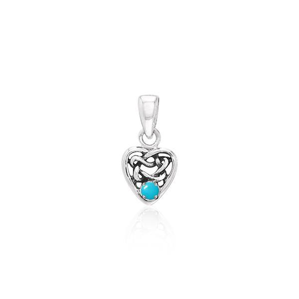 Celtic Heart Love Spell Pendant TPD2897TQ