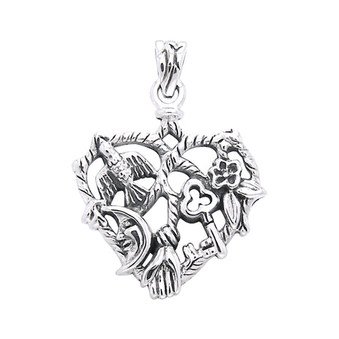 Cast your Cimaruta Witch Sterling Silver Jewelry Charm Pendant TPD3131