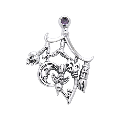 Magical Connections Cimaruta Witch Sterling Silver Jewelry Pendant TPD3133