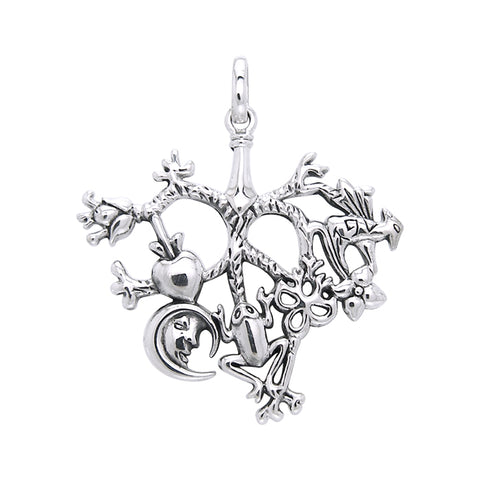 Cimaruta Witch Sterling Silver Jewelry Charm Pendant TPD3134