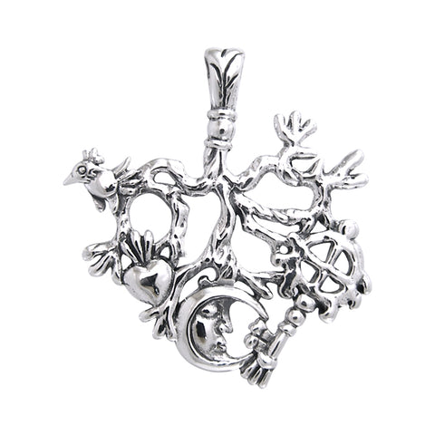 Mystified by the Cimaruta Witch Sterling Silver Jewelry Charm Pendant TPD3369
