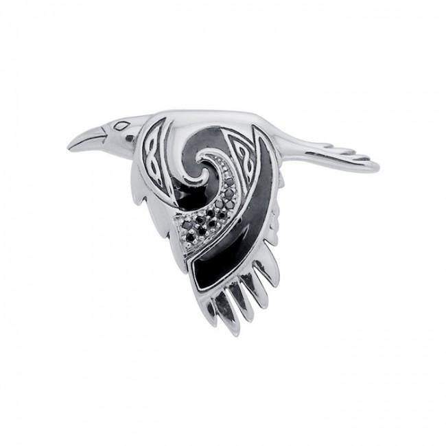 The Mythical Return of the Celtic Raven Pendant TPD3381