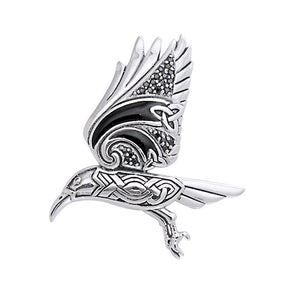 Behind the Mystery of the Mythical Raven Silver Jewelry Pendant TPD3382