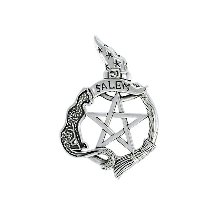 Salem Witch Silver Pentacle TPD4244