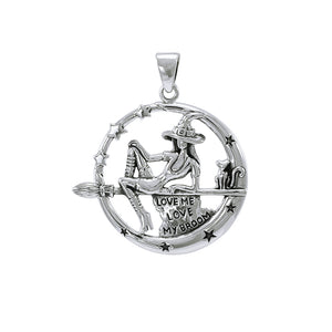 Witchy Sterling Silver Pendant TPD4245