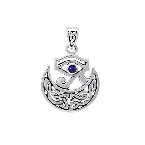 Eye of Horus Celtic Moon Pendant TPD4278