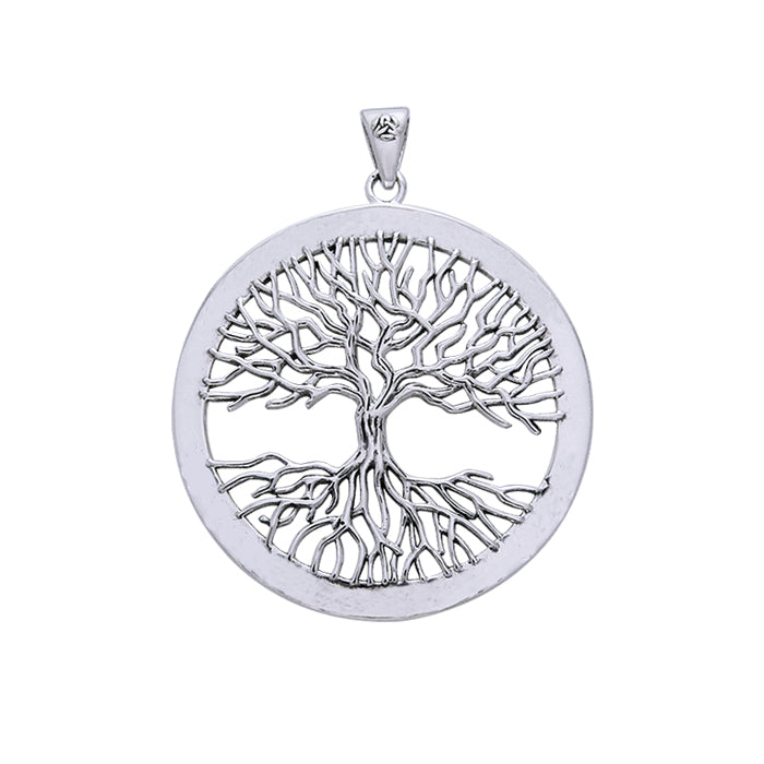 Mickie Mueller Wiccan Tree of Life Silver Pendant TPD4304