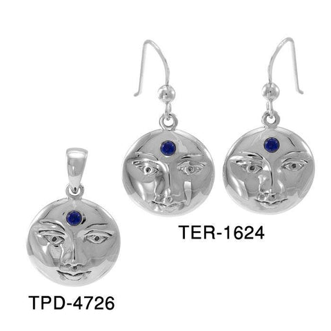 Blue Moon Pendant and Earrings Set (TER1624 And TPD4726)