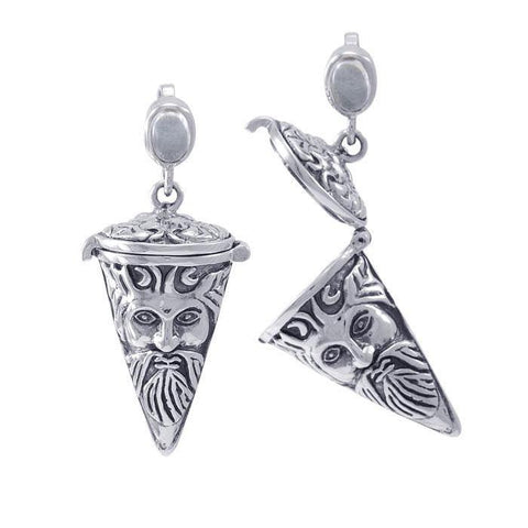 Green Man Pendulum Spell Sterling Silver Pendant TPD4731