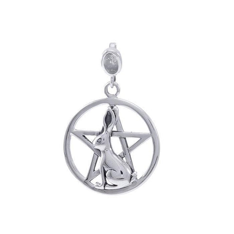 Rabbit Ostara Sterling Silver Pentacle TPD4738