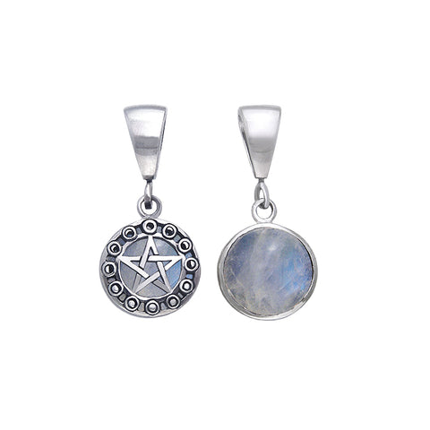 Moon Phase Pentacle Flip Pendant TPD477