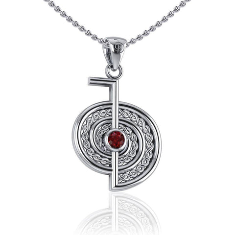 The Reiki Cho Ku Rei Sterling Silver Pendant with Gemstone TPD4923