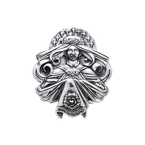 Brigid Ashwood Celtic Queen of Heaven Silver Pendant TPD495