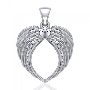 Large Angel Wing Sterling Silver Pendant TPD5014