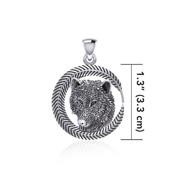 Wolf Sterling Silver Pendant TPD5060