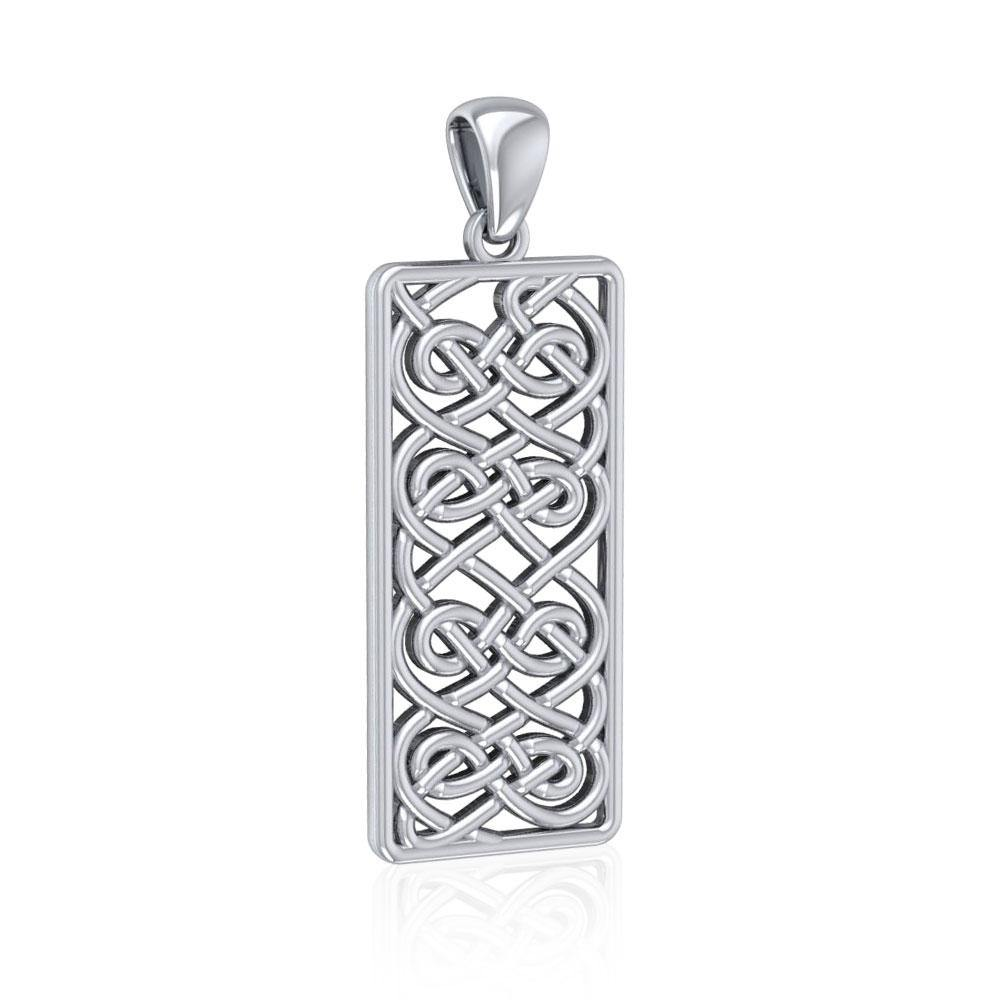Celtic Knotwork Sterling Silver Pendant TPD5073