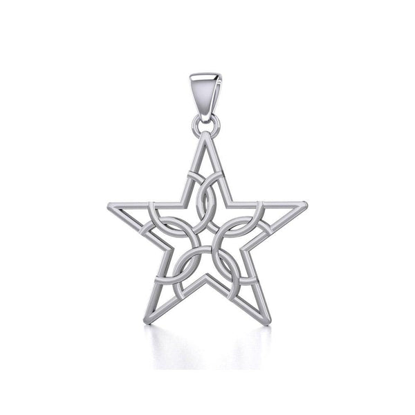 The Fifth Circle with Star Silver Pendant TPD5264