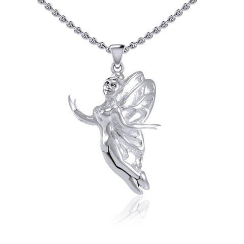 Enchanted Flying Fairy Silver Pendant TPD5410