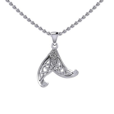 Celtic Mermaid Tail Sterling Silver Pendant TPD5473