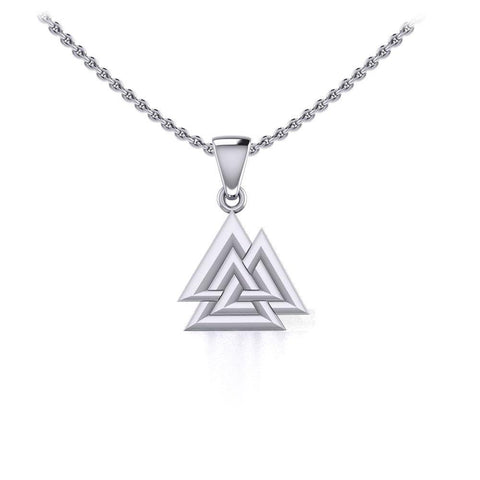 Sterling Silver Viking Valknut Small Pendant Jewelry TPD5614