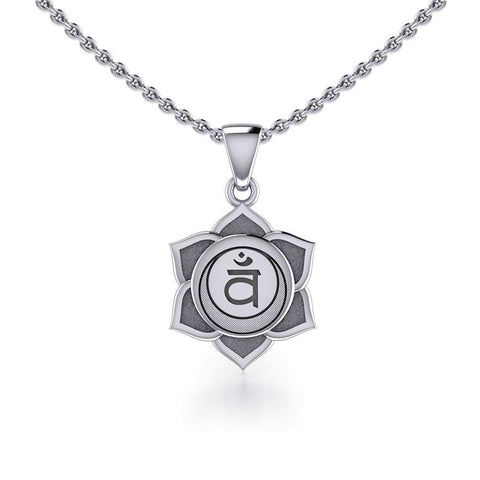 Svadhisthana Sacral Chakra Sterling Silver Pendant TPD5624