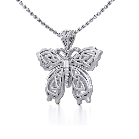 Celtic Butterfly Silver Pendant TPD5688
