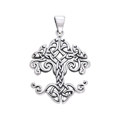 Honor Thy Tree of Life Sterling Silver Pendant designed by Cari Buziak TPD643
