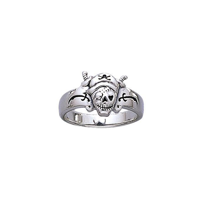 Pirate Skull Silver Ring TR3669
