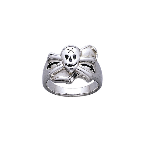 Skull and Crossbones Silver Ring TR3677