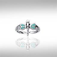 Dragonfly Silver Toe Ring TR3729TQ
