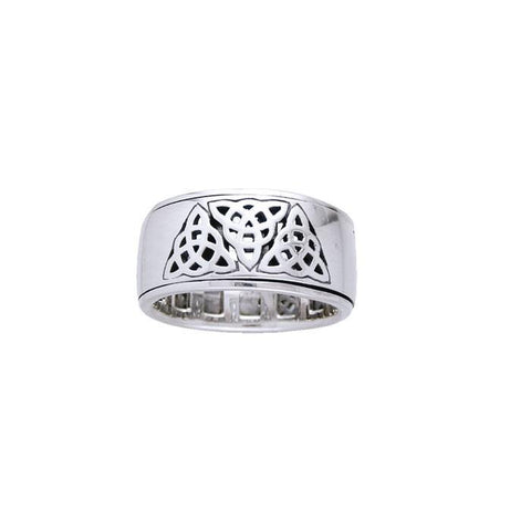Triquetra Silver Ring TR3816