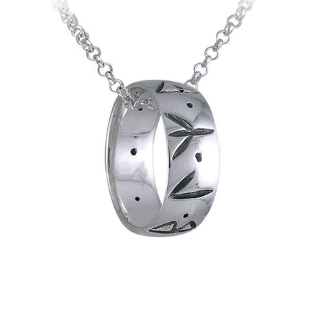 Runic Power Ring Necklace Set TRI036