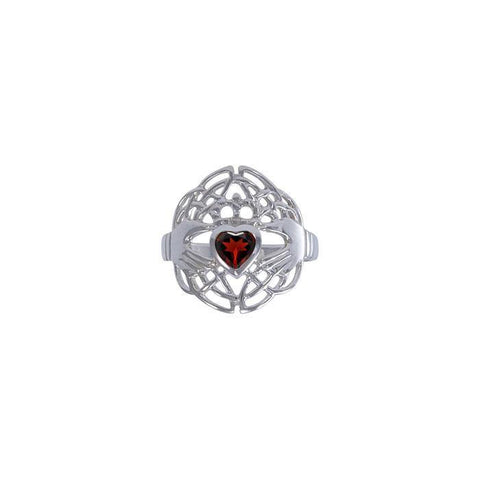 Celtic Claddagh Love Spell Sterling Silver Ring TRI1560