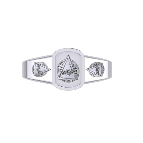Eye of Wisdom Silver Ring TRI2102