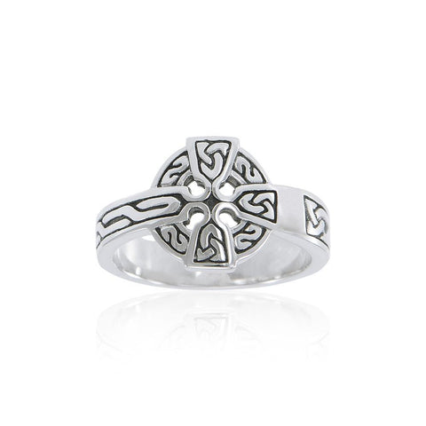 Sterling Silver Celtic Cross Ring TRI2105