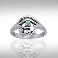 Eye of Horus Silver Ring TRI995TQ