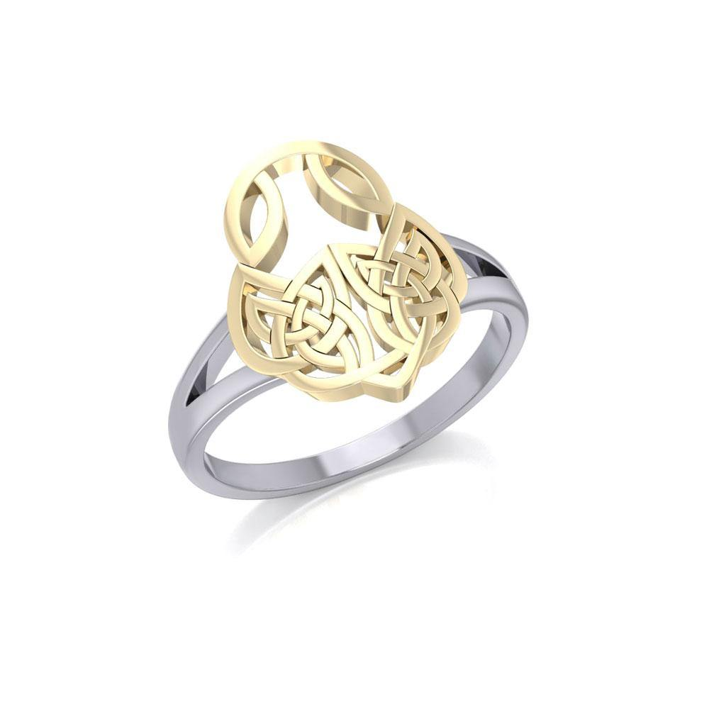 Celtic Knotwork Silver and Gold Ring MRI1588