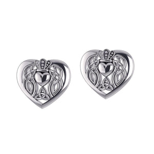 Celtic Claddagh Heart Post Earrings TER1654