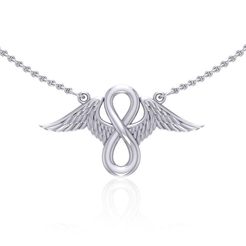 Angel Wings with Infinity Sterling Silver Necklace TNC445