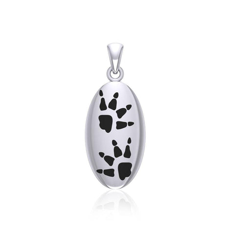Wolf Tracks Sterling Silver Pendant TPD5062