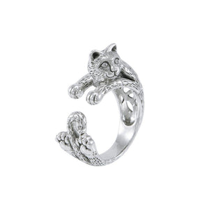 Sterling Silver Celtic Cat Ring TRI1639