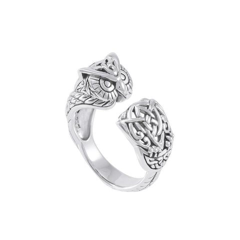 Sterling Silver Celtic Owl Ring TRI1646