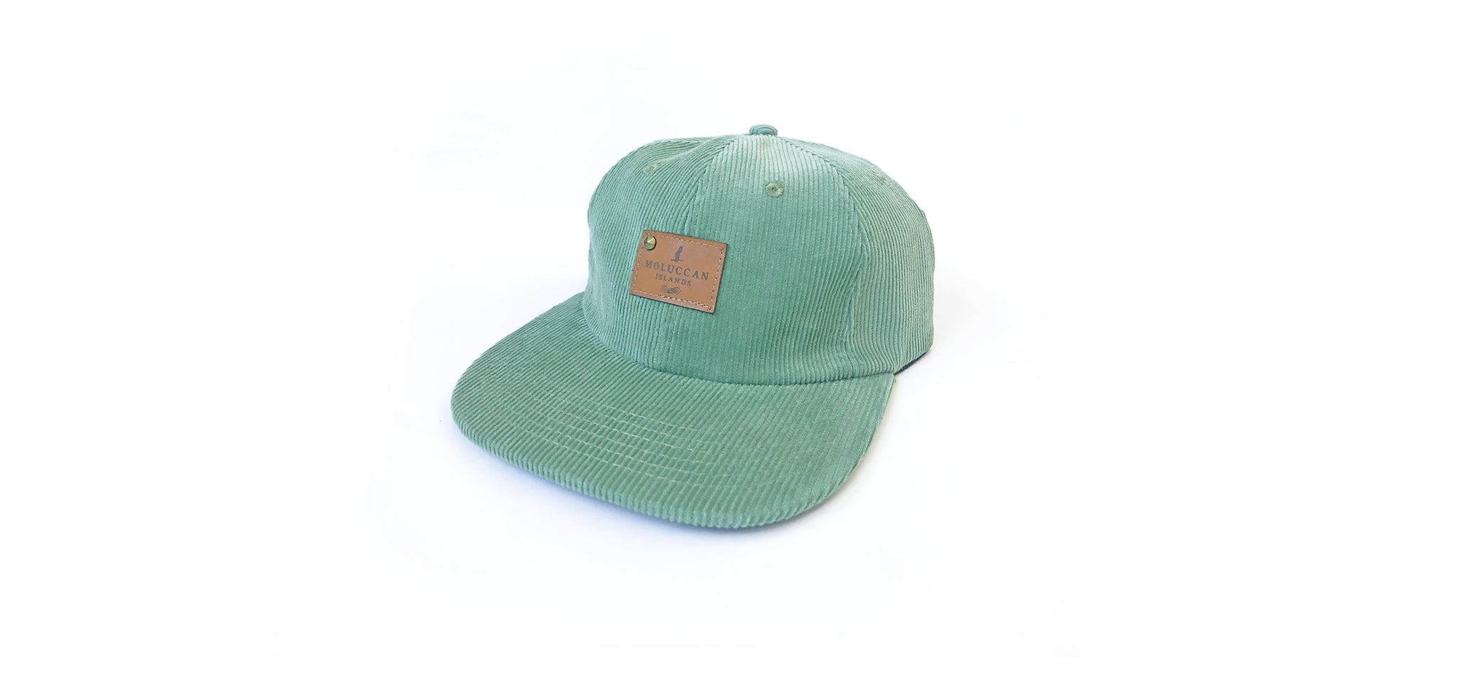 Sea Mint Corduroy Cap