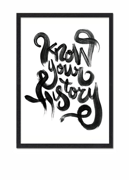 Know Your History Riso print